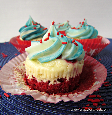 Red Velvet Cheesecake Cupcakes - Crazy for Crust