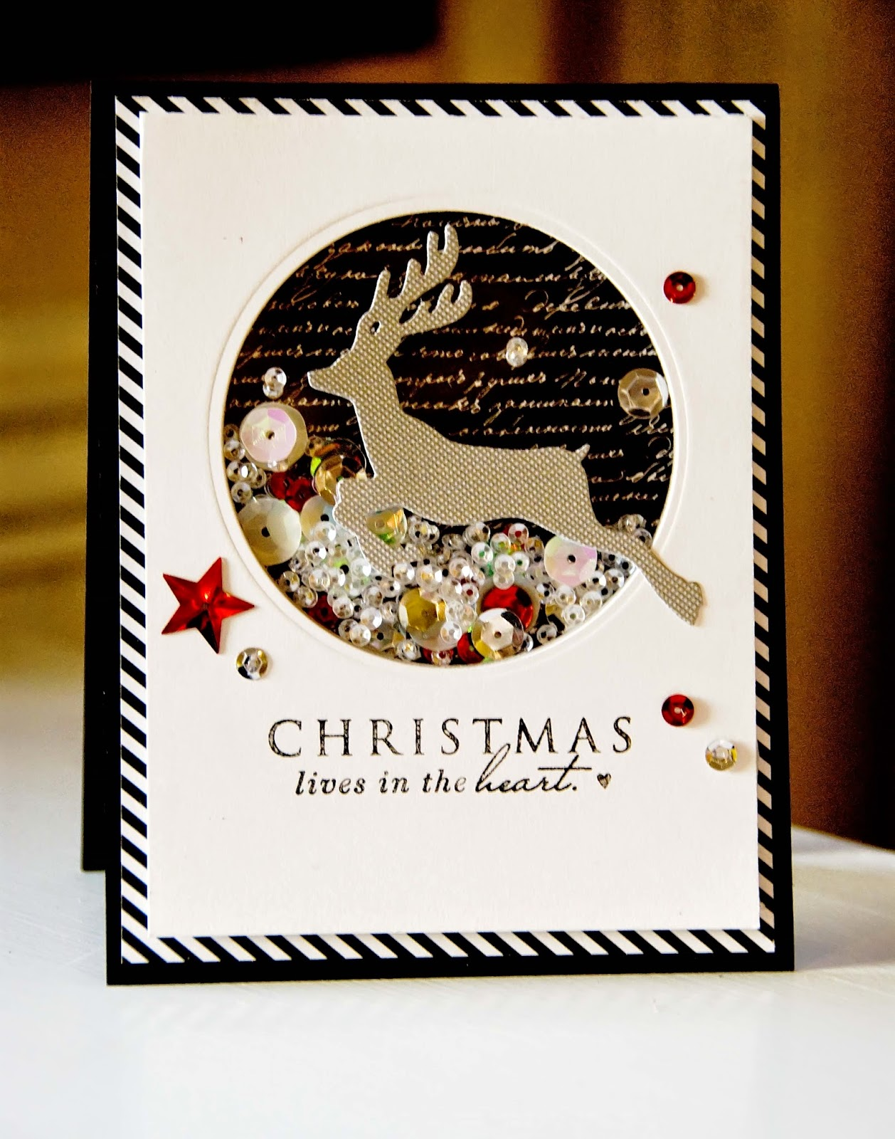 Dictionary 39 s creative space shaker card for Creative christmas cards