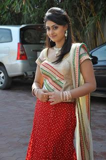Actress Megha Sree Stills in Anaganaga Oka Chitram Launch Pictures 16.jpg