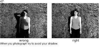 Совет 47. Следите за своей тенью, она не должна попадать в кадр.