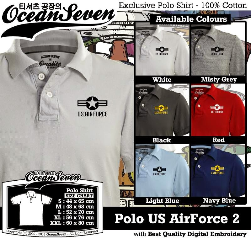 Kaos Polo US AirForce 2