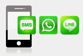 Smartphone con contacto con un detective por Whatsapp, SMS o Line