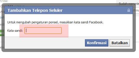 Verifikasi ulang akun facebook