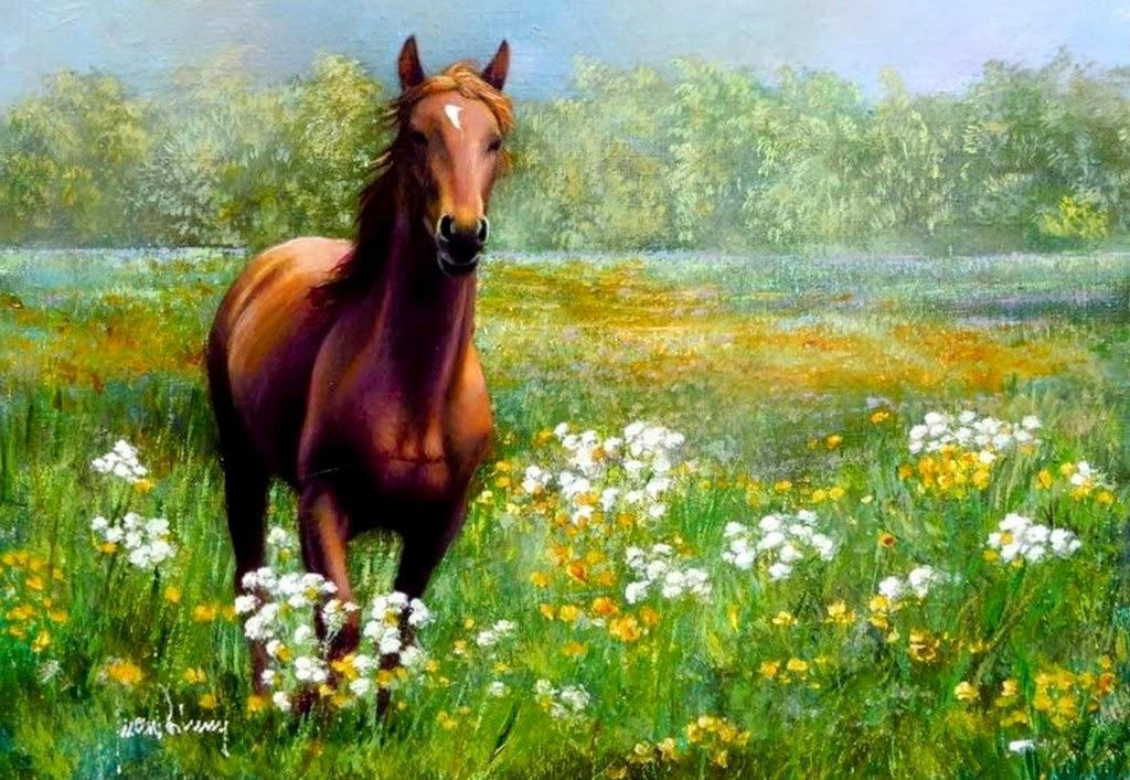 dibujos-al-oleo-de-caballos
