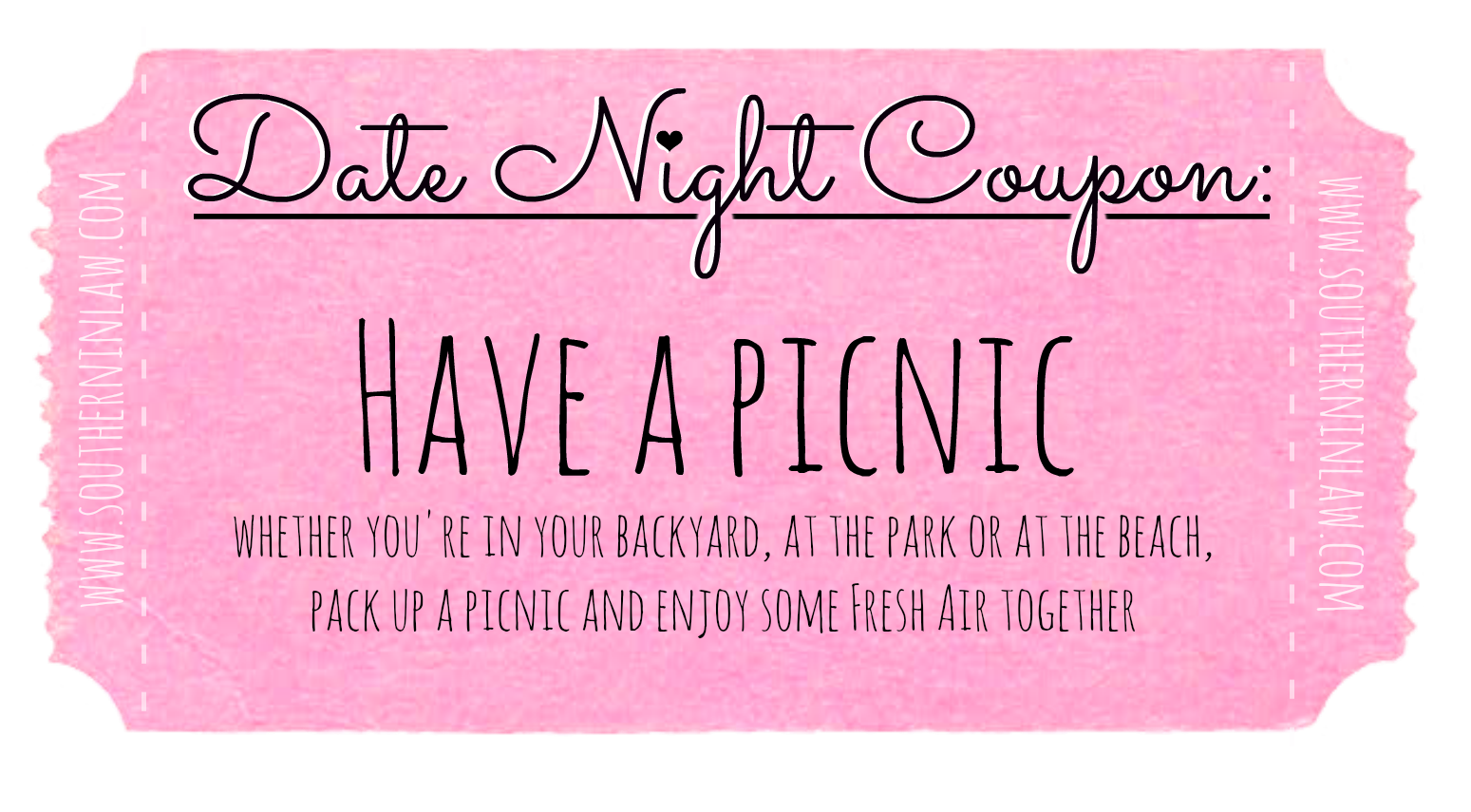 Affordable Date Night Ideas - Date Ideas Coupons - Have a Picnic