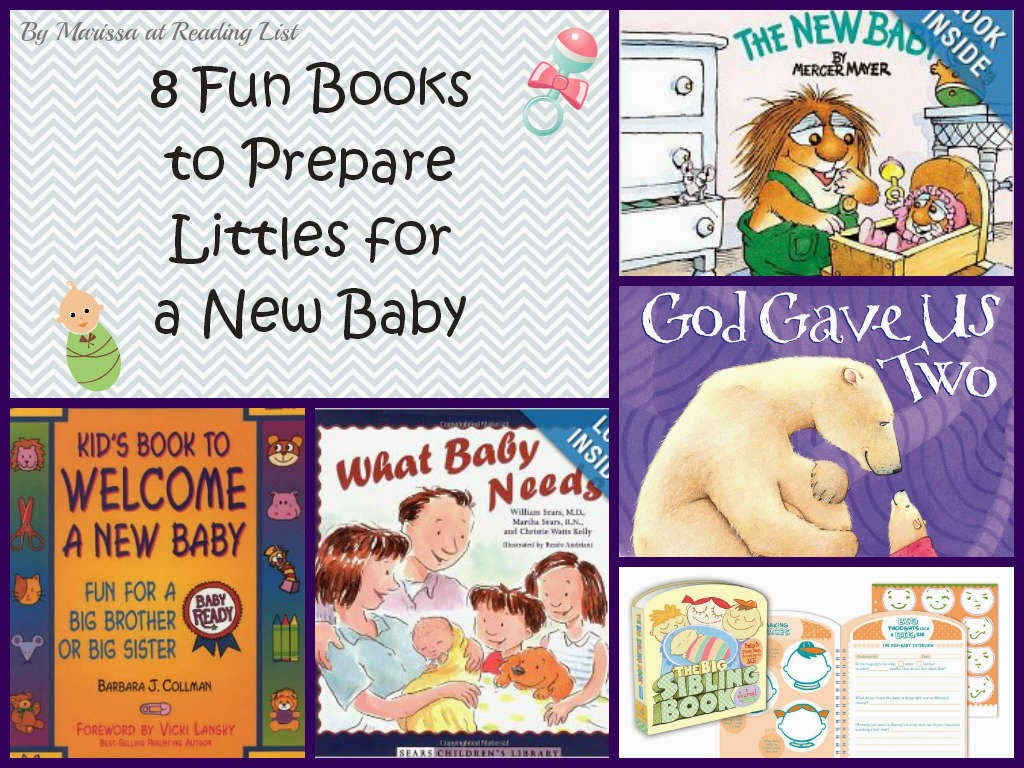 8 books for preparing siblings for new baby  {Reading List}
