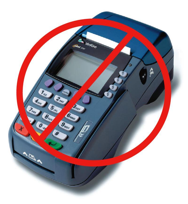 credit card machine not working