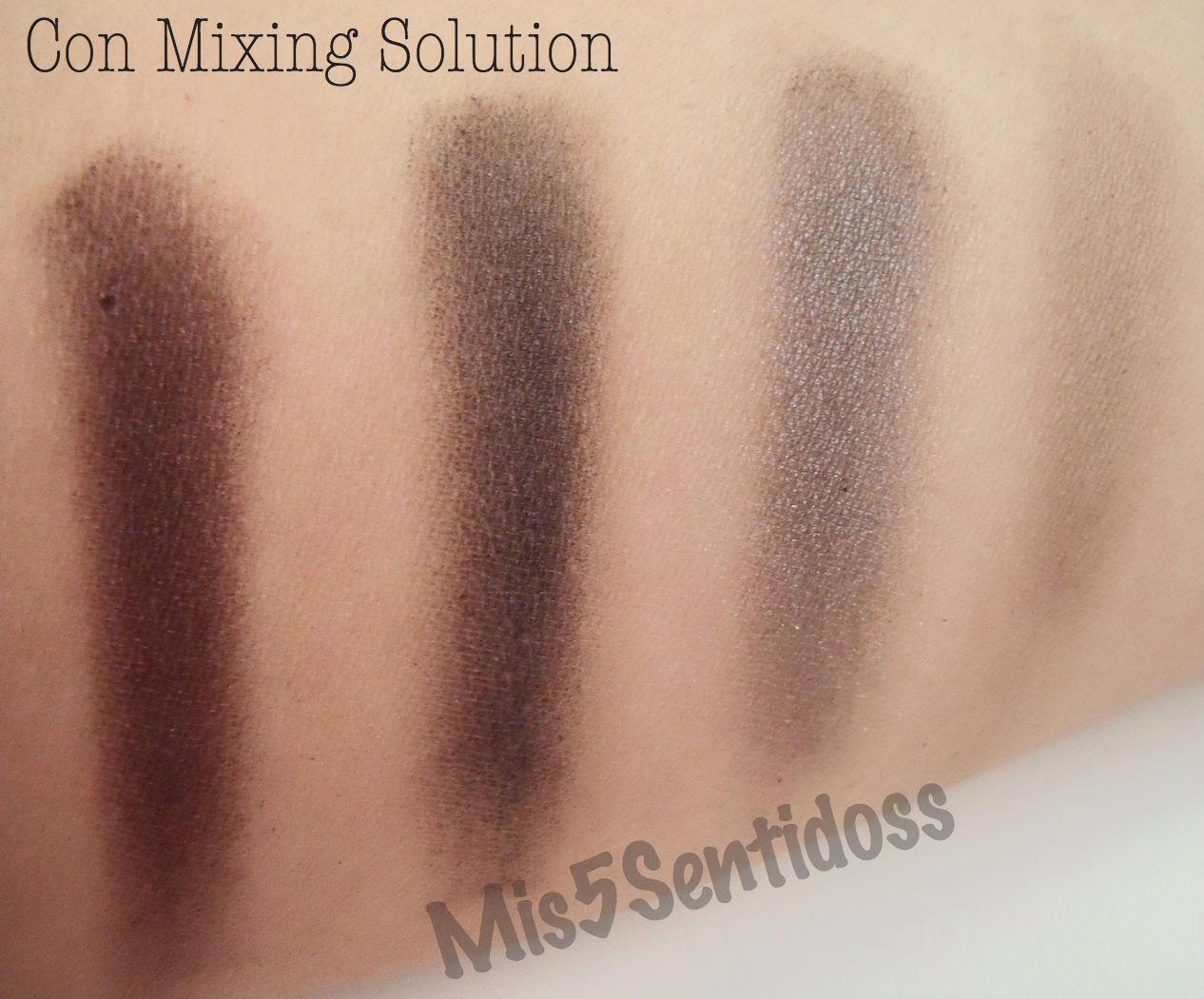 Sombras Kiko y mixing solution