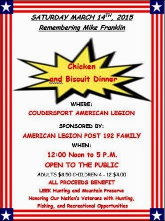 3-14 Chicken & Biscuit Dinner