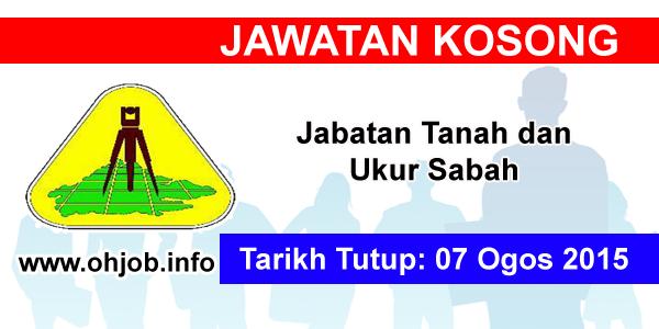 Jawatan Kerja Kosong Jabatan Tanah dan Ukur Sabah logo www.ohjob.info ogos 2015