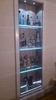 Lisa Melvin Design Vodka Display Shelf , Spirit Decanter, Bespoke Niche