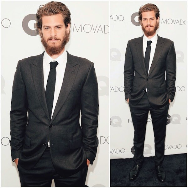 Andrew Garfield wears Dior Homme to 2014 GQ Gentlemen's Ball in New York City October 2014