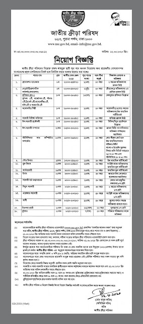 National Sports Council NSC Job Circular 2020