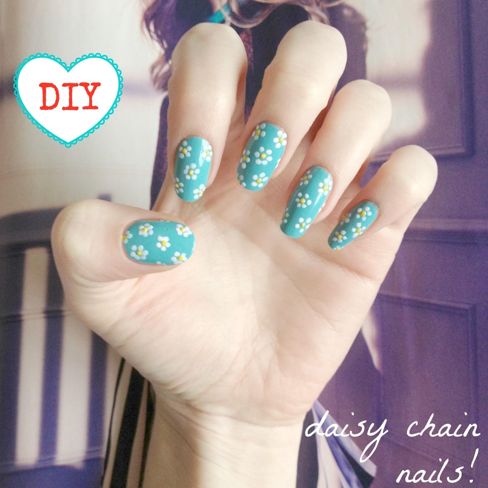 DIY daisy nail art! | BURKATRON