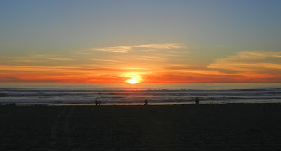 Sunset on Pacific Beach