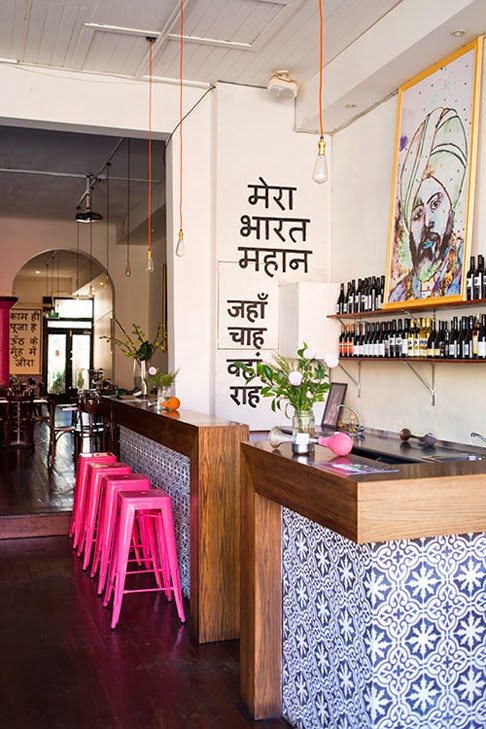All things nice an indian decor blog horn please a for Funky cafe furniture