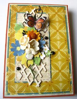 скрап,открытка,чипборд,скрапбумага,цветы,бабочка,дотсы