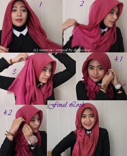 Kreasi Hijab Modern Terbaru Style Natasha Farani