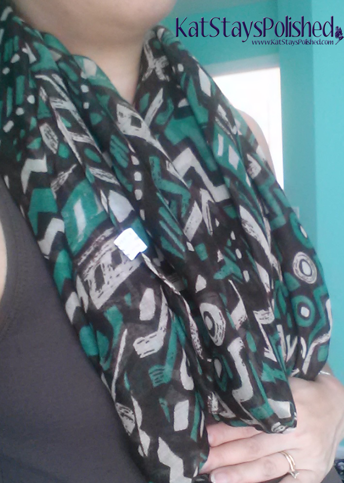 Wantable Accessories Box - September 2014 - Shawni Scarf | Kat Stays Polished