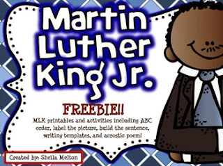 http://www.teacherspayteachers.com/Product/Martin-Luther-King-Jr-Activities-FREEBIE-Print-and-go-1056250