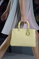 Голяма кожена чанта в пастелно зелено, дизайнер Christian Dior