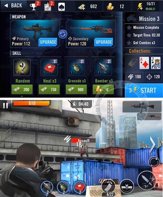 Game Elite Killer SWAT APK Terbaru Mod Unlimited Money and Gold