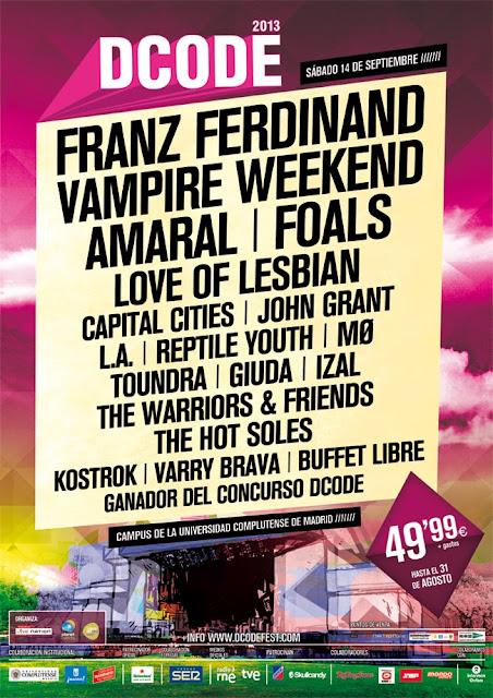 DCode 2013, Festival, Cartel, Franz Ferdinand, Vampire Weekend, Amaral