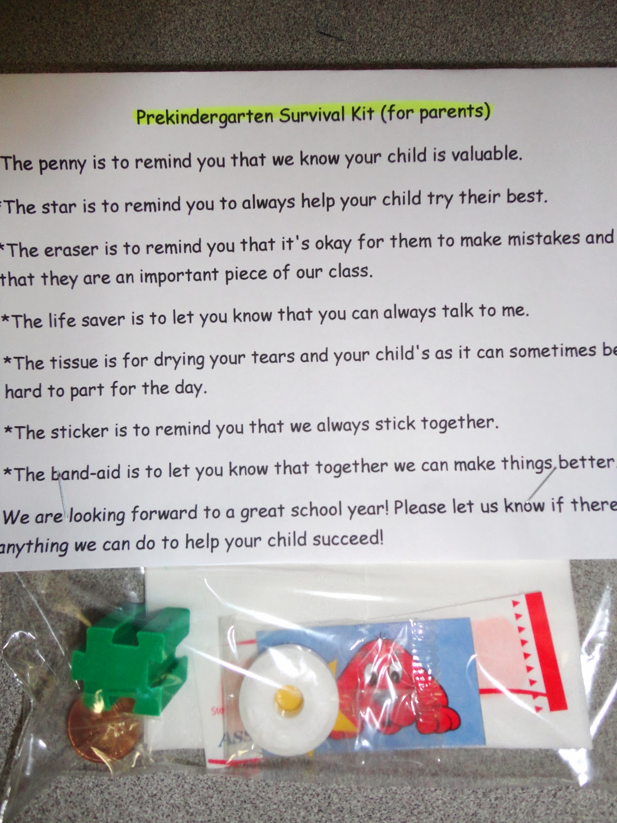 Humorous Survival Kits for Teachers | Teacher's Survival ...