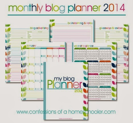 2014 Printable Blog Planner