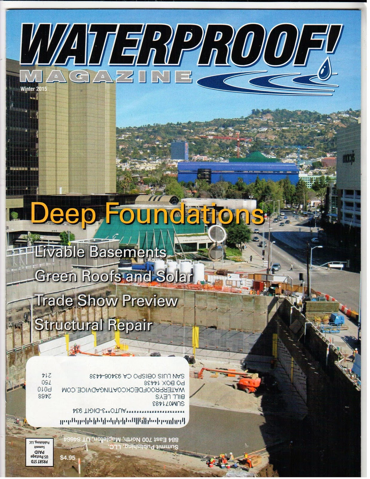 Waterproof! Magazine covers issues, products, jobs and more on waterproofing and decking.