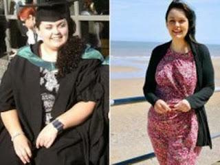 بالصور...بريطانية تفقد 70 كجم من وزنها لتحافظ على بصرها !!!