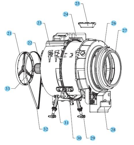 Cara kerja mesin cuci front loading full automatic elektro tehnik penampang drum mesin cuci ccuart Image collections