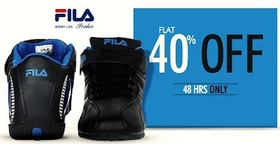 Enjoy Flat 40% Discount on Fila Shoes @ Myntra (Offer is Valid for 48 Hours Only)