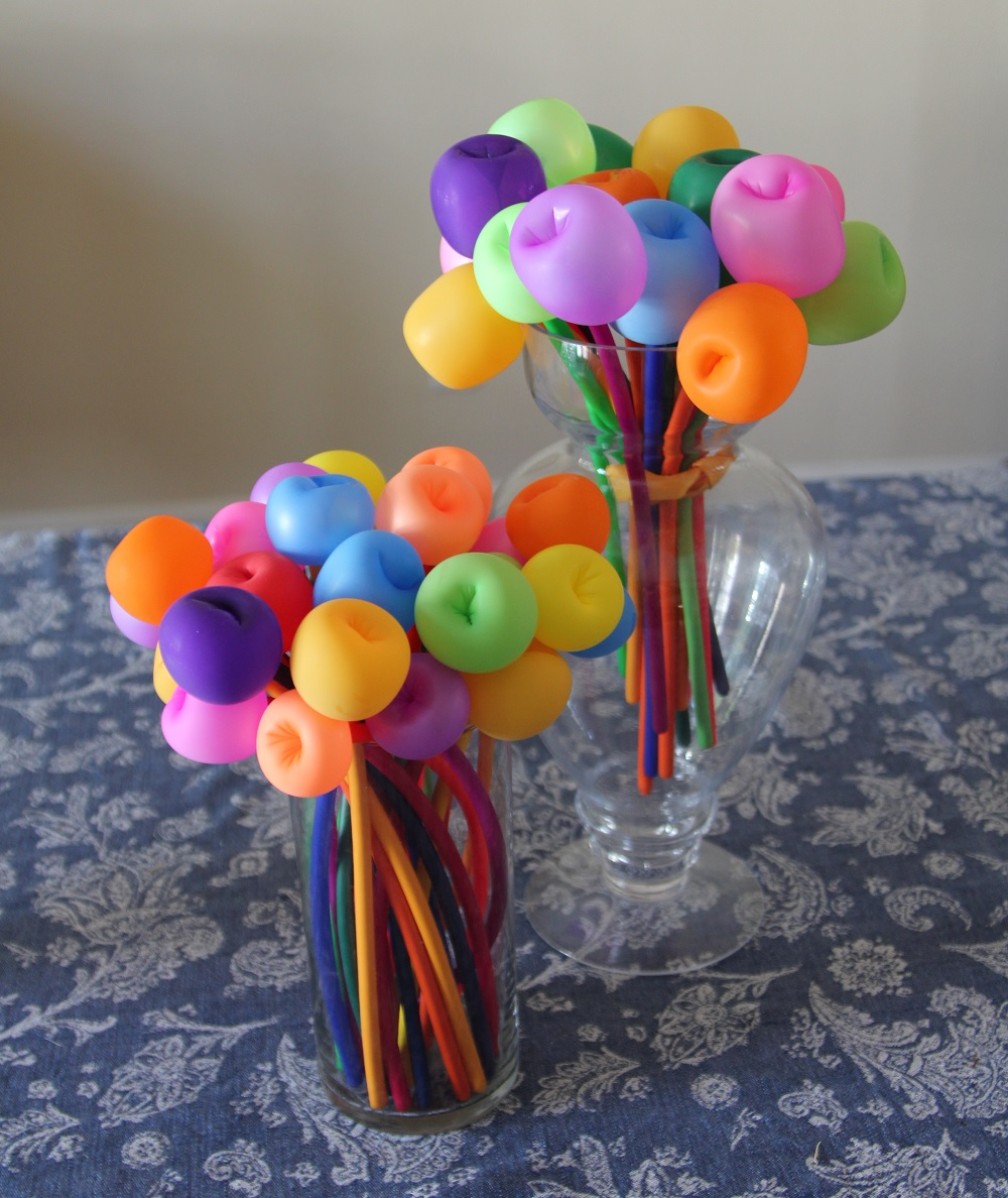 Beyond Betavia Balloon Bouquet Centerpiece