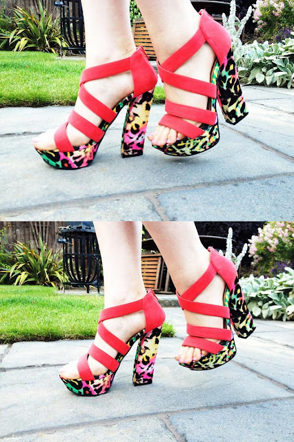 New Look bright animal print shoes