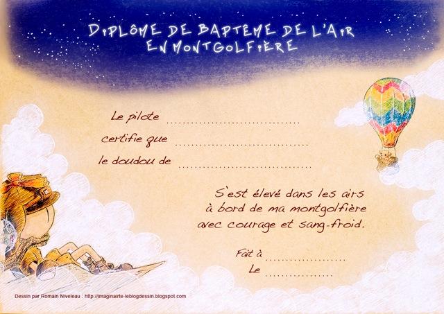 Imaginairte le blog dessin dipl me de bapt me de l 39 air - Tchoupi l anniversaire de doudou ...