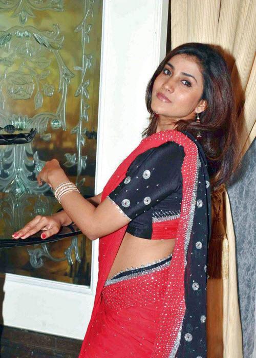 South Actress Kausha in Hot Saree