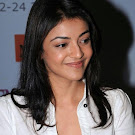 Kajal Agarwal Stills in  White Shirt
