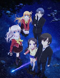 Jeden z plakatów promujących anime Charlotte