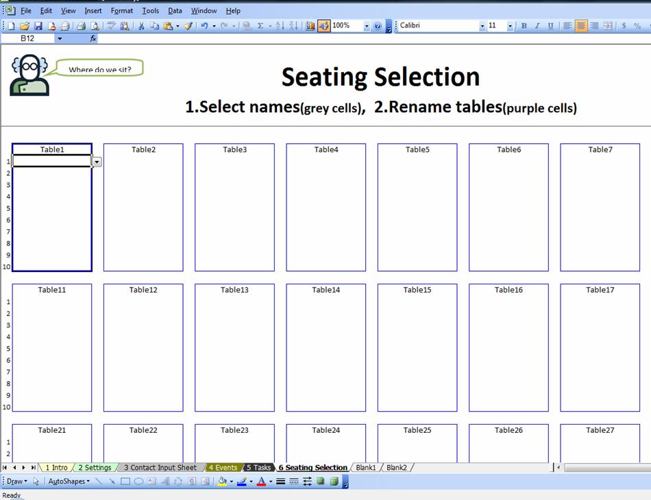 Seating Chart in Excel Spreadsheet by Rebekah Branka  TpT
