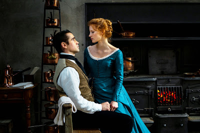 Colin Farrell and Jessica Chastain in Miss Julie