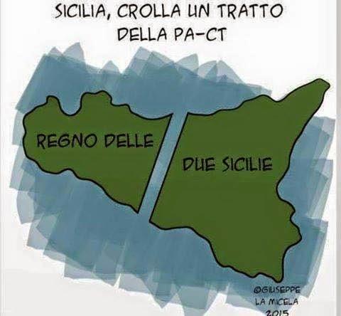 QUEL CROLLO DEL PILONE CHE DIVIDE IN DUE UNA SICILIA SENZA REGNO
