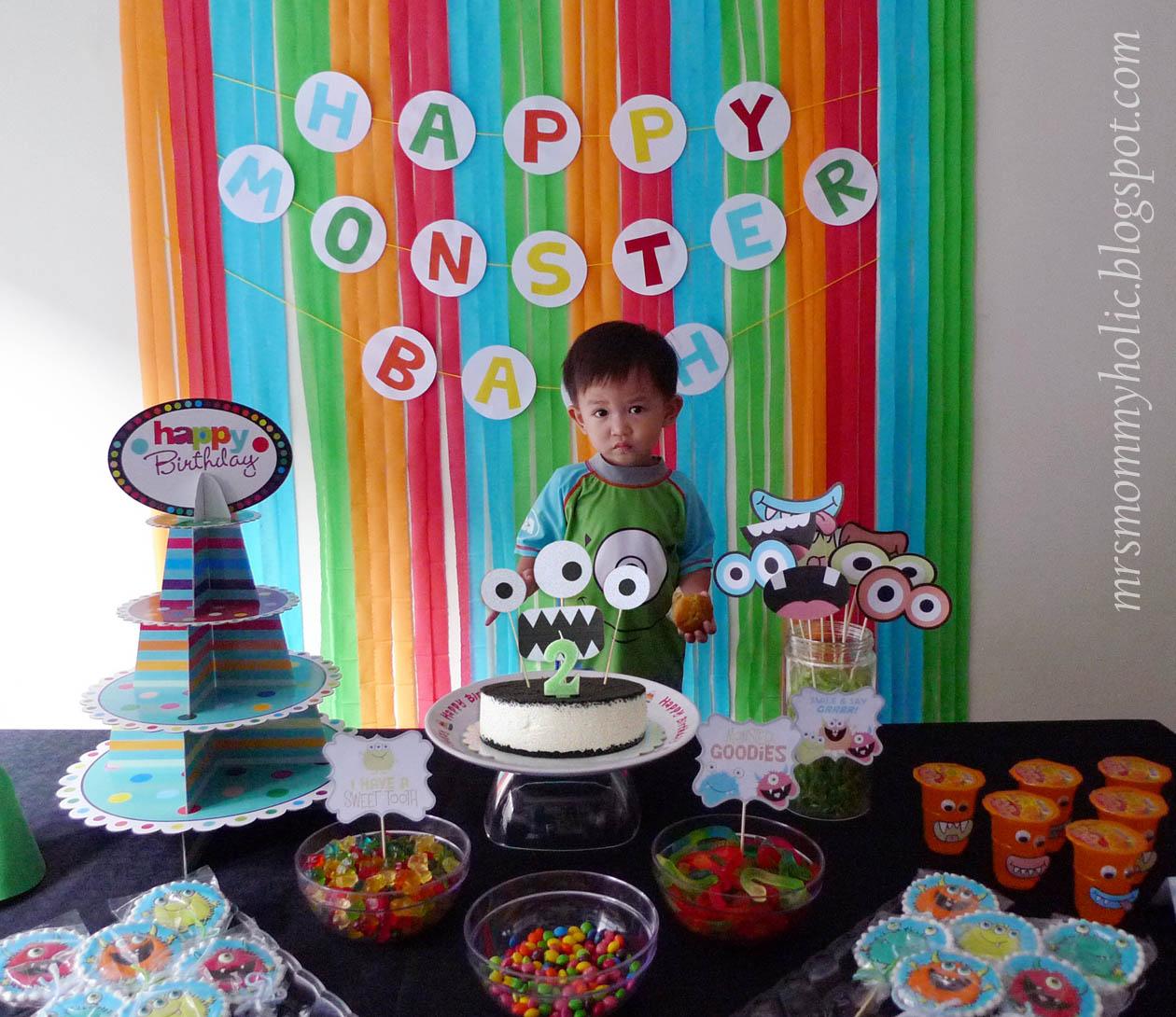 Mrsmommyholic A Happy Monster Birthday Bash