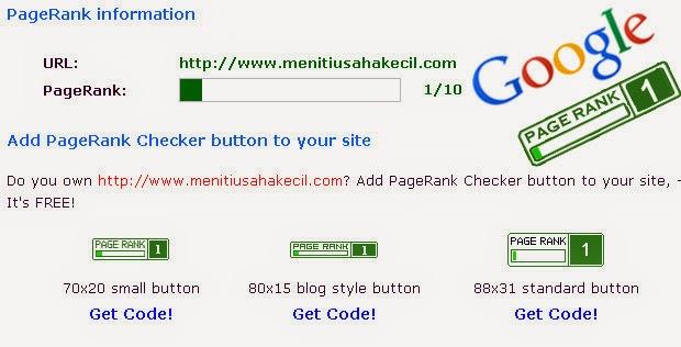 PageRank Google Meniti Usaha Kecil