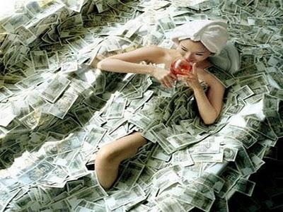 mandi uang