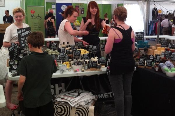VegFest Bristol 2012 - stall - LUSH
