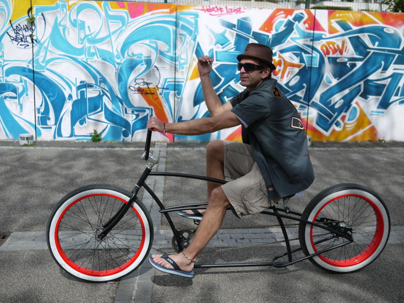 Custombrigade paris beachcruiser chopper kustom vélo américain hickone chopaderos