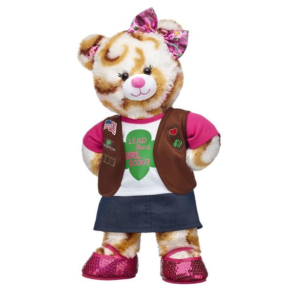Brand New-The Official Girl Scout Brownie Build-A-Bear S'mores Campout Bear