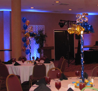 Party people event decorating company 25th class reunion for Balloon decoration classes