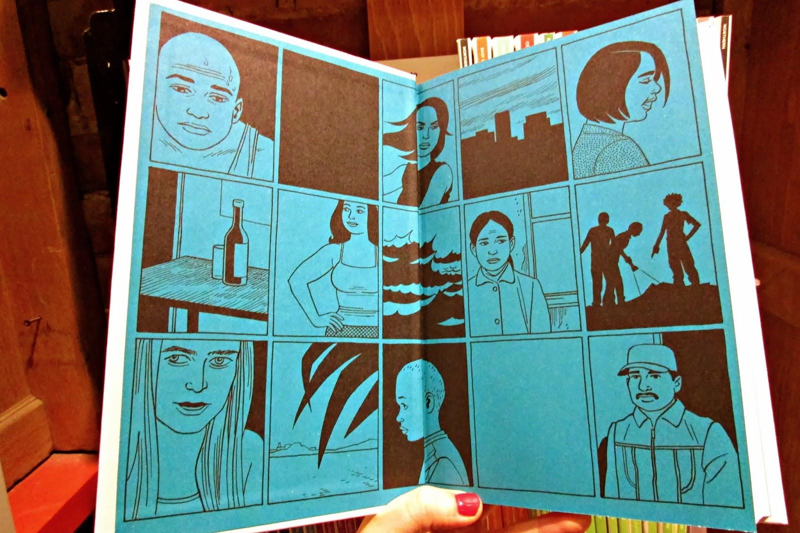Even the endsheets showcase hernandez s signature comic art